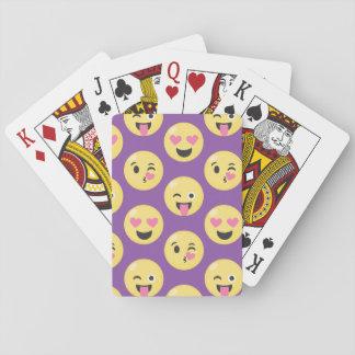 Emoji Love Pattern Playing Cards