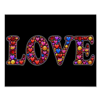 Emoji love poster
