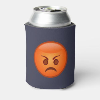 Emoji Mad Face Can Cooler