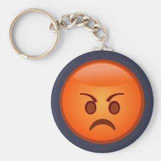 Emoji Mad Face Keychain
