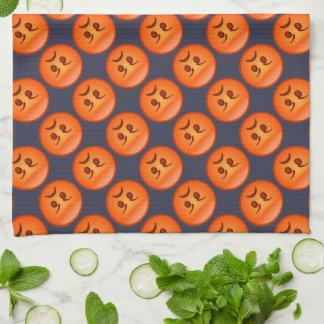 Emoji Mad Face Kitchen Towel