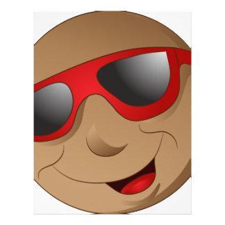 Emoji Man Face Facial Expression Letterhead Design