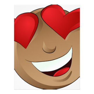 Emoji Man Face Facial Love Hearts Expression Letterhead Template