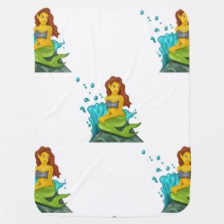 emoji mermaid baby blanket