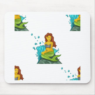 emoji mermaid mouse pad
