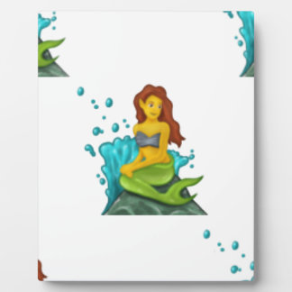 emoji mermaid plaque