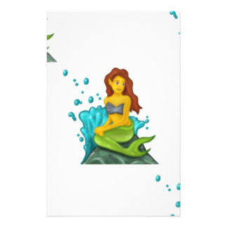emoji mermaid stationery
