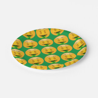 EMoji Money Face Party Supplies 7 Inch Paper Plate