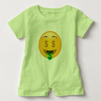 Emoji Money Man Baby Romper