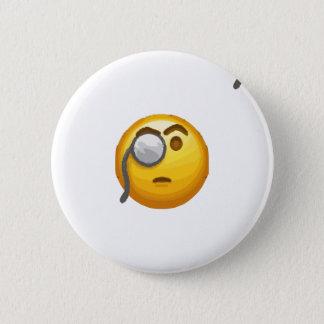 emoji monocle 2 inch round button