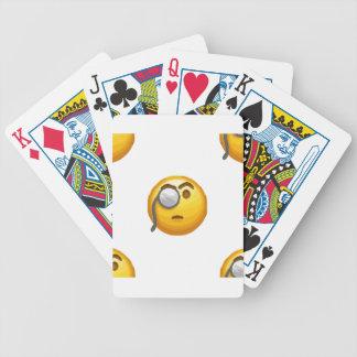 emoji monocle bicycle playing cards