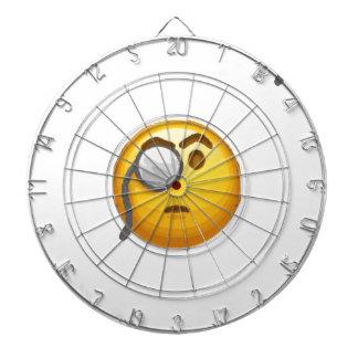emoji monocle dartboard