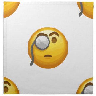emoji monocle napkin
