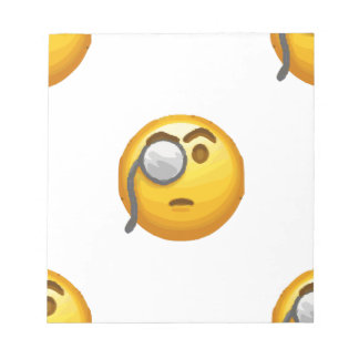 emoji monocle notepad
