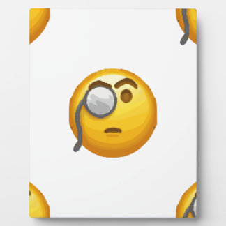 emoji monocle plaque