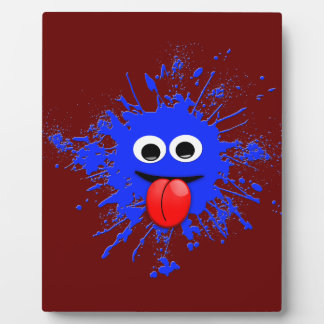 Emoji Motion Dabbing Blue Splatter Design Plaque