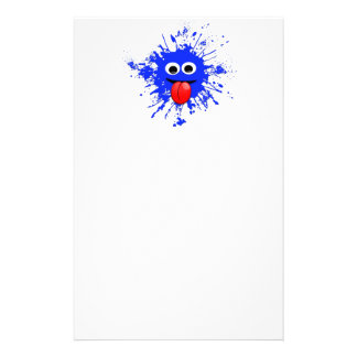 Emoji Motion Dabbing Blue Splatter Design Stationery