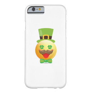 Emoji Mustache Funny St Patricks Day Girls Boys Barely There iPhone 6 Case