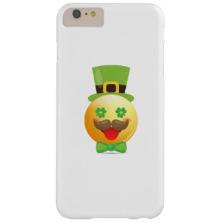 Emoji Mustache Funny St Patricks Day Girls Boys Barely There iPhone 6 Plus Case