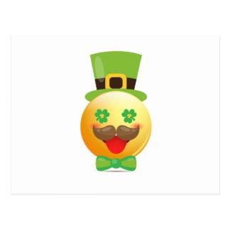 Emoji Mustache Funny St Patricks Day Girls Boys Postcard