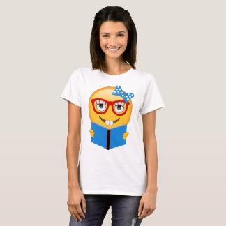 Emoji Nerd Bookworm Shirt