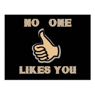 Emoji: No One Likes You Postcard