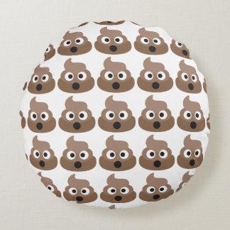Emoji Oh Poop Round Pillow