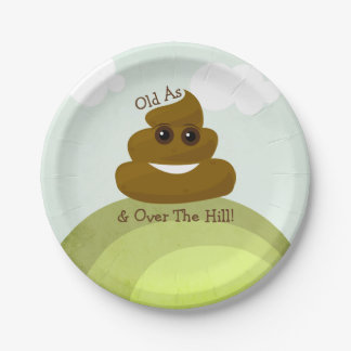 Emoji Over The Hill Birthday Party Paper Plates