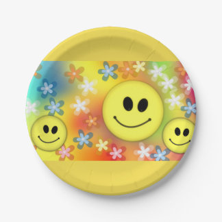 Emoji Party 7 Inch Paper Plate