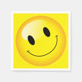 Emoji Party Cheerful Smiley Emoticon Happy Face Disposable Napkins