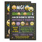 Emoji Party OMG Birthay Invitation