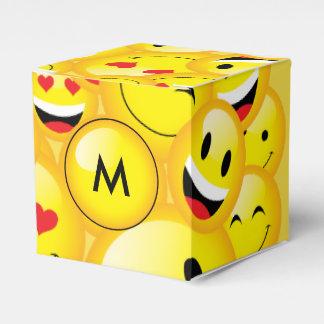 Emoji Party Smiley Emoticon Faces Pattern Favor Box