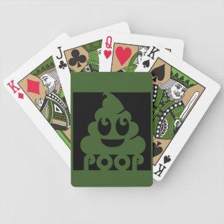 Emoji Poo Square Bicycle Playing Cards
