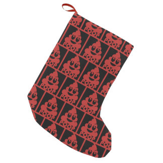 Emoji Poo Square Small Christmas Stocking