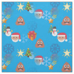 emoji poop christmas fabric