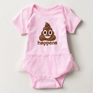 Emoji Poop Happens Baby Bodysuit