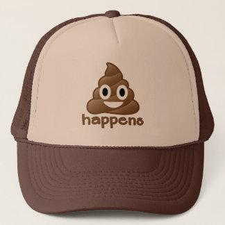 Emoji Poop Happens Trucker Hat