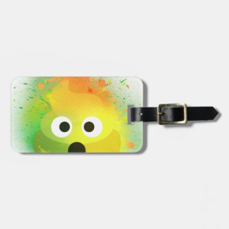 Emoji Poop yellow Spray Paint art Luggage Tag