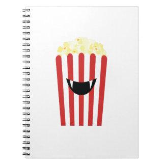 Emoji Popcorn Halloween - Halloween Funny Gift Notebooks