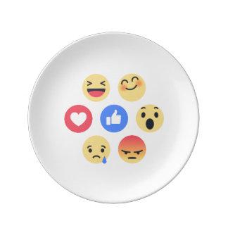 emoji porcelain plates