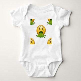 emoji puking baby bodysuit