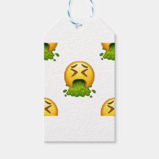 emoji puking gift tags