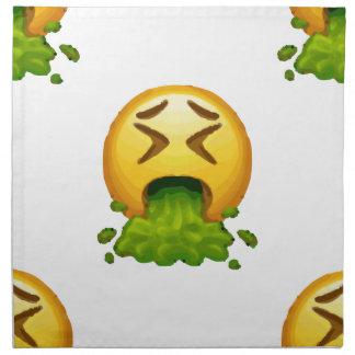 emoji puking napkin