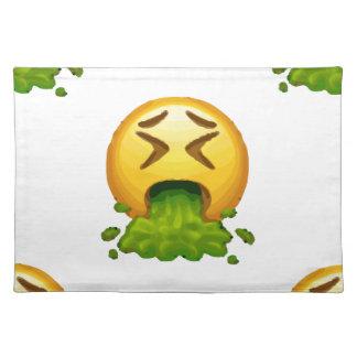emoji puking placemat
