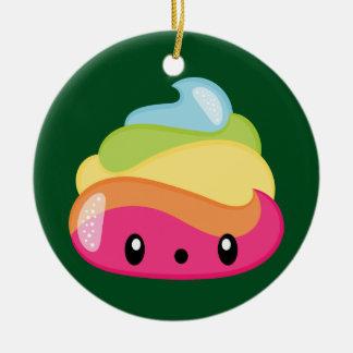 Emoji Raimbow Poop! Ceramic Ornament
