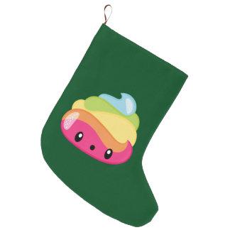 Emoji Raimbow Poop! Large Christmas Stocking