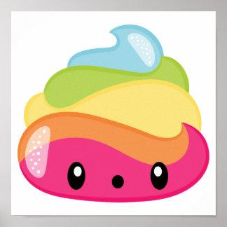 Emoji Raimbow Poop! Poster