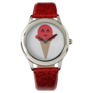 Emoji RED ice cream watch