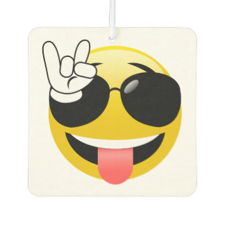 Emoji Rock On Hands Car Air Freshener