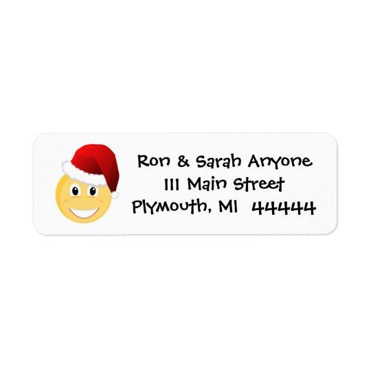 Emoji Santa Address Label